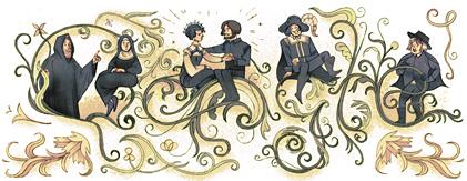 Doodle di Google per ricordare il 227 annivarsario della nascita di Alessandro Manzoni